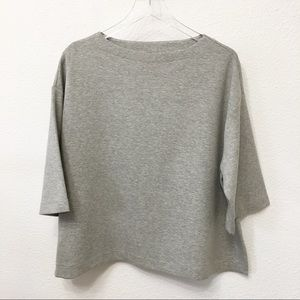 Uniqlo Wide Neck Oversized Crop Sweater